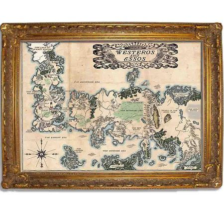 Westeros and Essos vintage style map