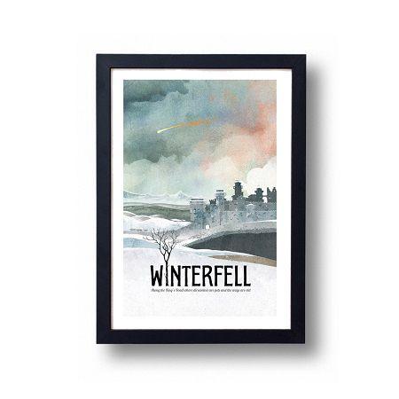 Winterfell travel poster