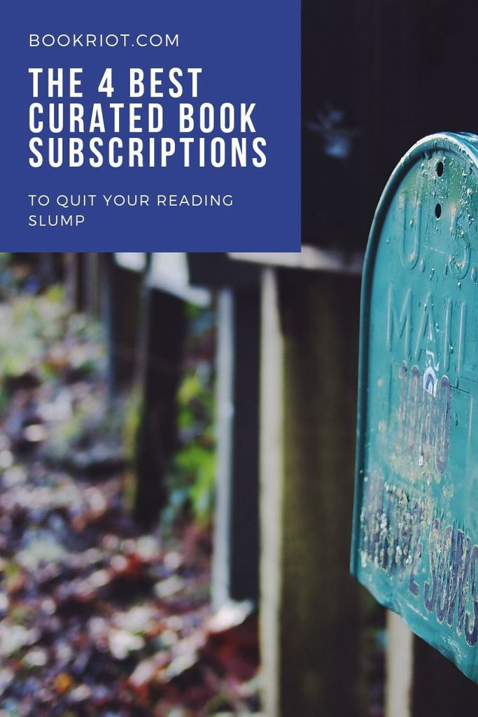 Never run out of things to read with these 4 excellent curated book subscriptions. book mail | book subscription boxes | book recommendations