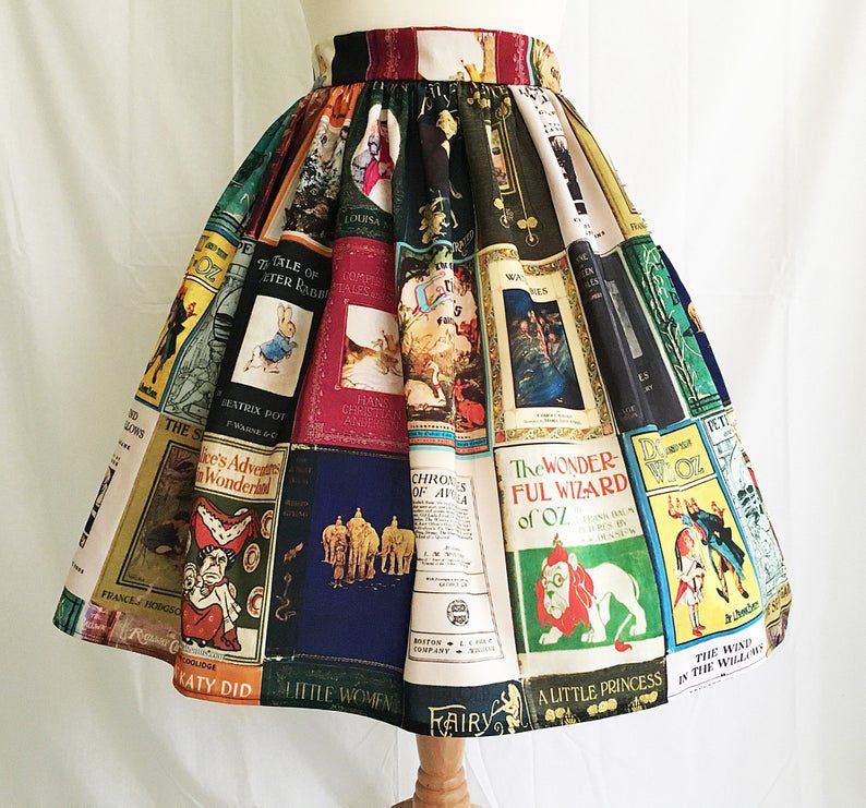 classic book cover skirt