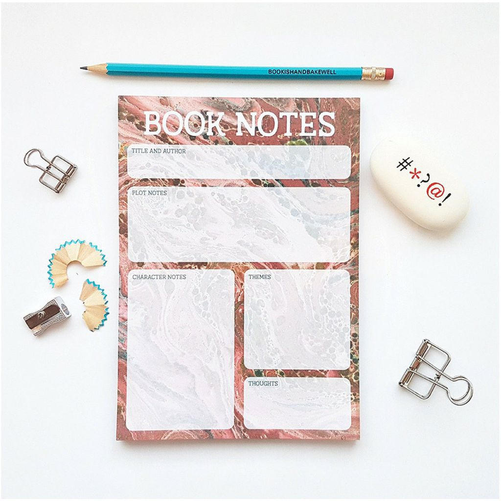 Book Notes Notepad