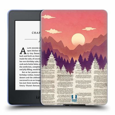 Book page hard case kindle cover