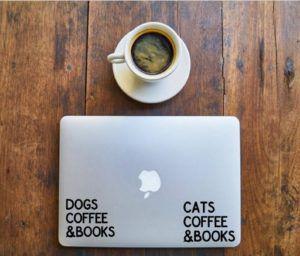 Cats Dogs Coffee Books Sticker