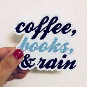 Coffee Books Rain Sticker