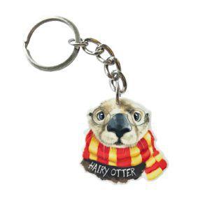 Hairy Otter Keychain