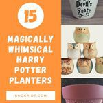 Show your love for the magical series -- as well as for plants of all kinds -- with these whimsical Harry Potter planters. Harry Potter | Harry Potter gifts | Harry Potter planters | pots for book lovers | bookish gifts