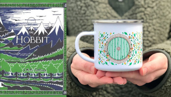 The Hobbit mug from Books And The Perfect Coffee Mugs To Go With Them | bookriot.com