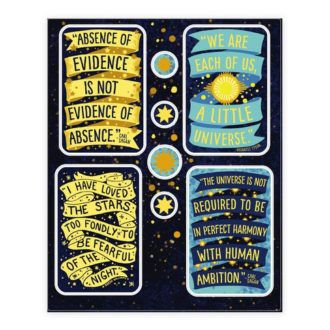 Inspiring Science Quotes Stickers