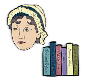 Jane Austen Enamel Pin Set