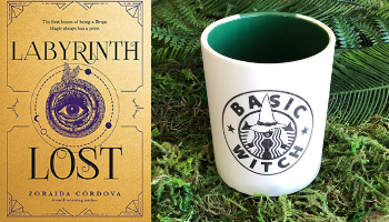 Labyrinth Lost mug from Books And The Perfect Coffee Mugs To Go With Them | bookriot.com