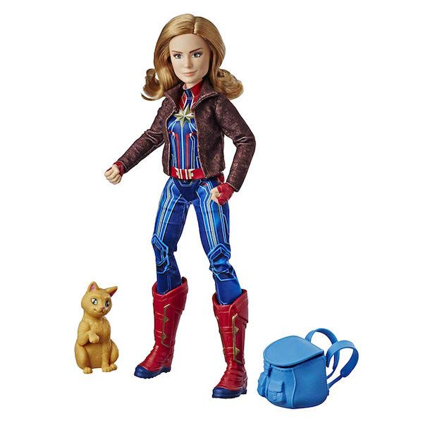 Captain Marvel Doll with Goose and Backpack