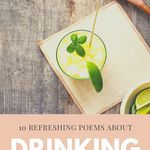 Bottoms up to these poems about drinking. poems | poetry | poetry about drinking | poems to read
