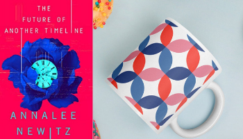 The Future of Another Timeline mug from Books And The Perfect Coffee Mugs To Go With Them | bookriot.com