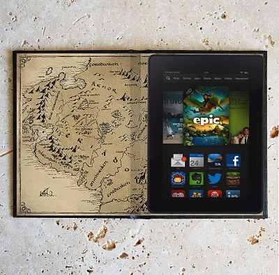 The Hobbit bookish kindle cover with a map