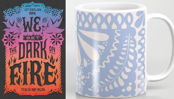 We Set The Dark on Fire mug from Books And The Perfect Coffee Mugs To Go With Them | bookriot.com