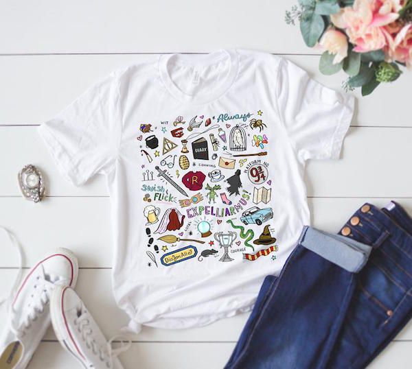Harry Potter Doodles T-Shirt