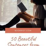It's impossible not to love a beautiful sentence. Enjoy these 50 from YA books. quotes | YA book quotes | great sentences | beautiful sentences from ya books