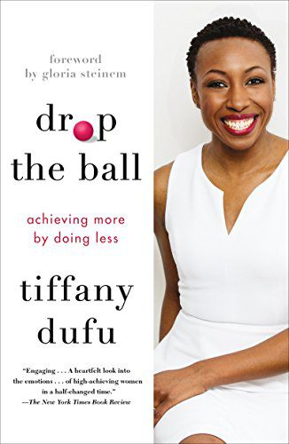 a photo of Tiffany Dufu, a Black woman with short natural hair wearing a white dress, next to the title of the book