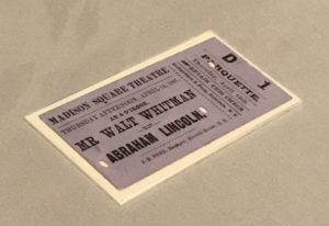 Whitman theatre ticket
