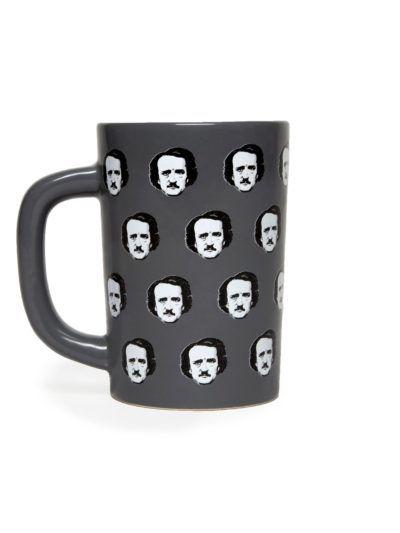 edgar allan poe polka dot mug