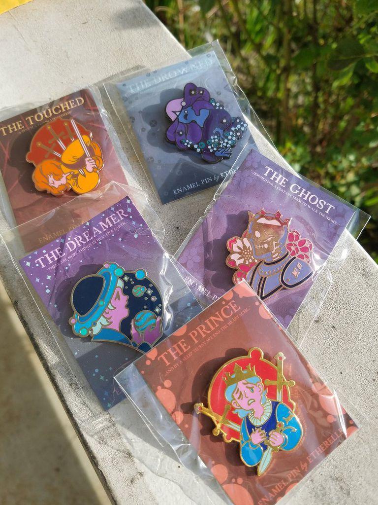 Hamlet inspired pins