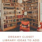 Add a closet library to your home and make it the closet library of your dreams (obviously, the picture here is a VERY LARGE CLOSET). closet libraries | home libraries | home library ideas | closet library ideas