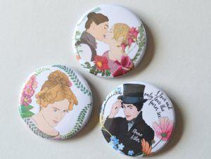 Gentleman Jack Character Pins