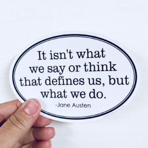 Jane Austen quote sticker