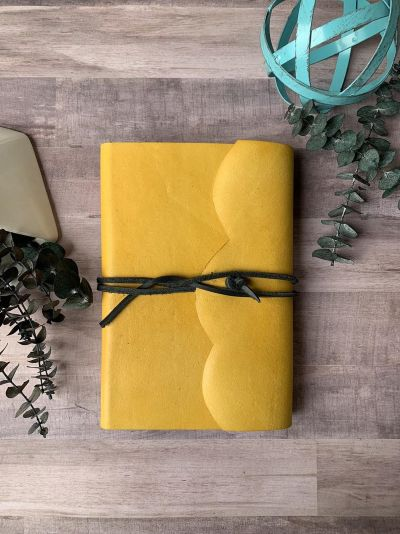 mustard leather bible cover