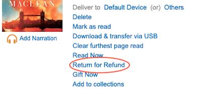 how to return a Kindle bool