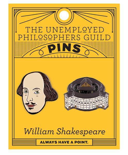 Shakespeare globe enamel pin