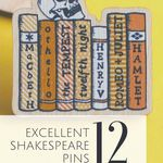 For all of the thesbians out there: some fantastic Shakespeare pins. pins | enamel pins | Shakespeare pins | bookish gifts | bookish pins | gifts for readers
