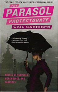 the parasol protectorate gail carriger book cover steampunk