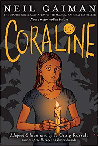 Coraline by Neil Gaiman book cover