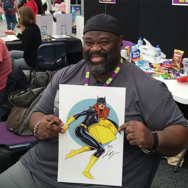 Ken Lashley and Batgirl, Photo by A Cahill