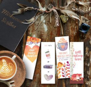 Cozy fall bookmarks