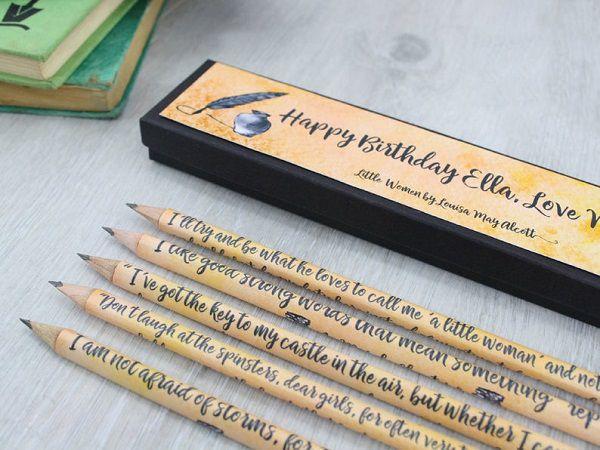 Little Women Louisa May Alcott quote pencils