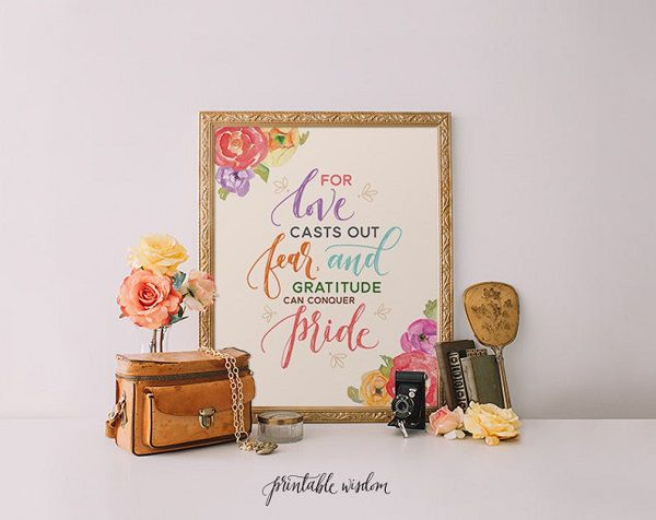 Little Women Louisa May Alcott quote for love casts out fear, and gratitude can conquer pride