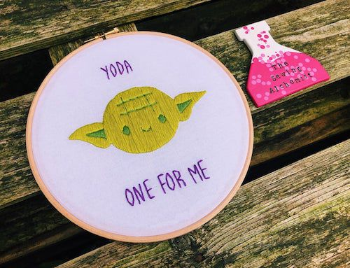 Star Wars Puns Yoda one for me embroidery art