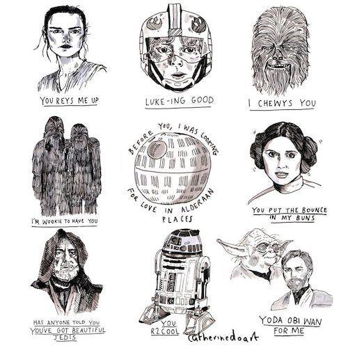 Star Wars Puns greeting card