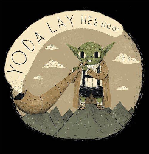 Star Wars Puns Yodeling Yoda shirt