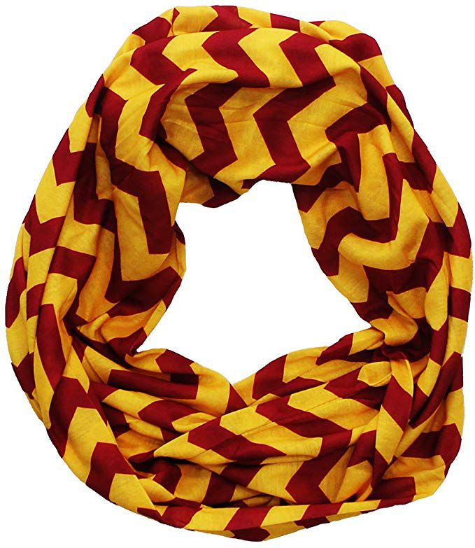Maroon and yellow scarf