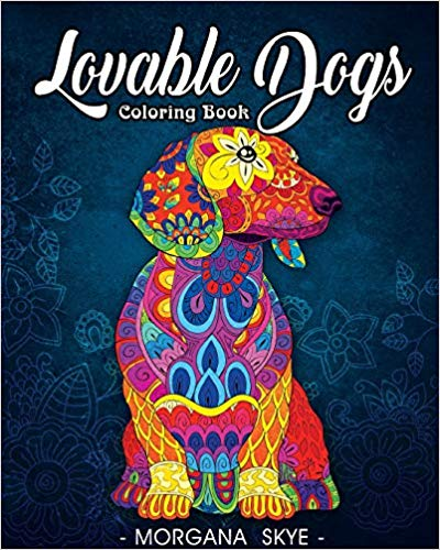 Lovable Dogs Coloring Book- An Adult Coloring Book Featuring Fun and Relaxing Dog Designs book cover