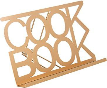 gold-toned cookbook stand