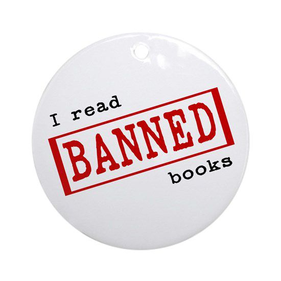 I read banned books ornament