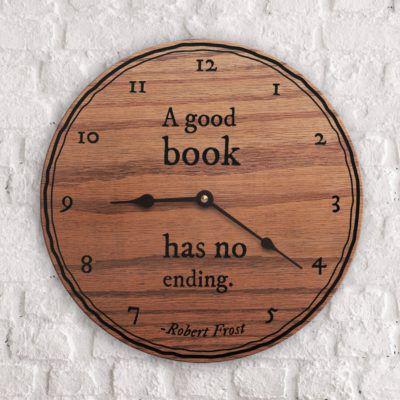 book quote clock