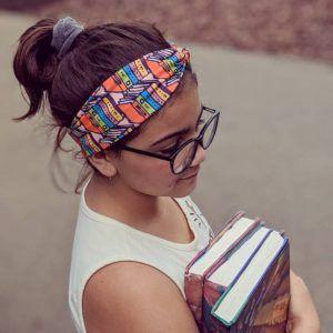 Book Stack Headband