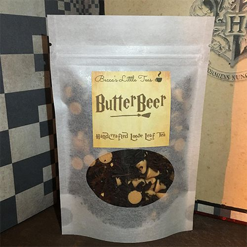 ButterBeer Inspired Bookish Tea by beccaslittleboutique