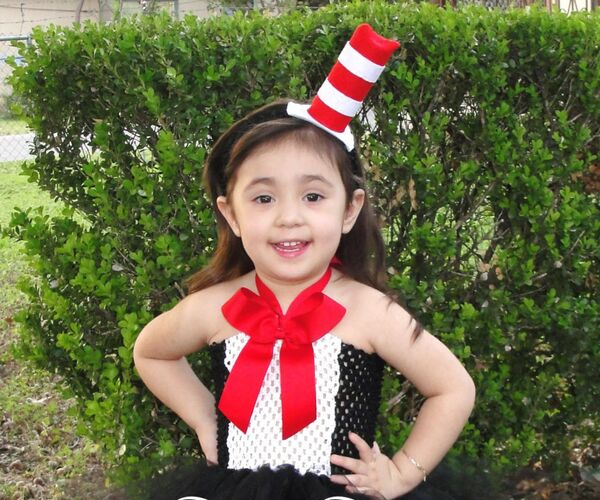 Cat in the Hat costume from Bookish Etsy Costumes | bookriot.com