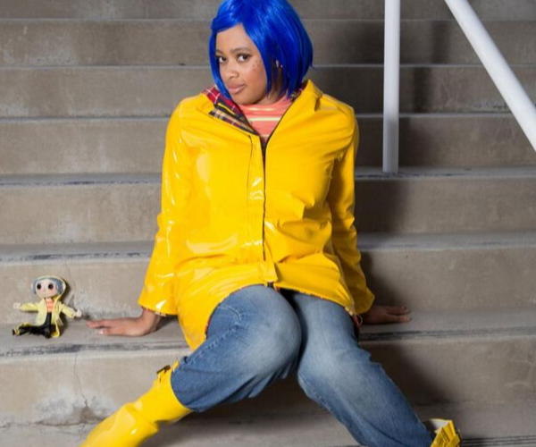 Coraline Costume from Bookish Etsy Costumes | bookriot.com